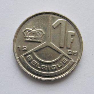 1 ФРАНК = 1989 г. = БЕЛЬГИЯ