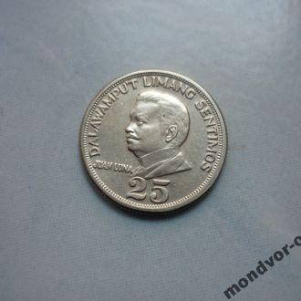 Филиппины 25 сентимо 1971 состояние