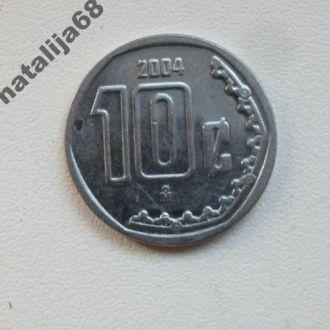 Мексика 2004 год монета 10 сентаво !