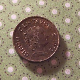 Мексика 1975 год монета 5 сентаво !