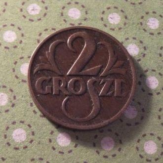 Польша 1925 год монета 2 гроша !