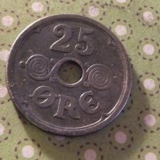 Дания 1924 год монета 25 эре