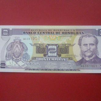 Гондурас 2010 рік 2 лемпіра UNC.