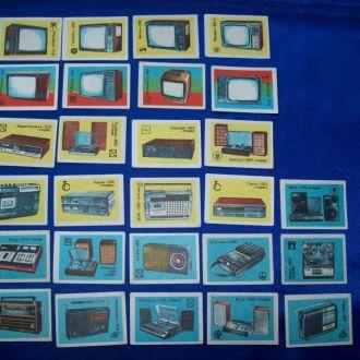 Спичечные этикетки Телевизоры радио техника 27 шт