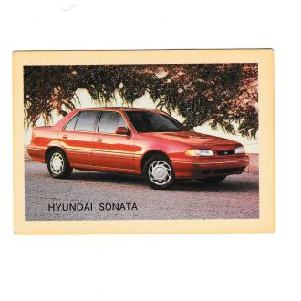 Календарик 1993 Пресса, Авто, Hyundai
