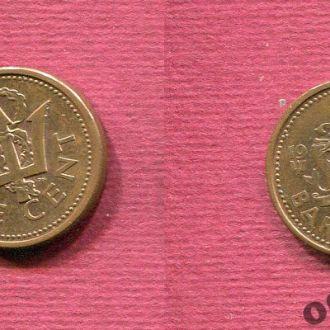 Барбадос 1 цент 1990