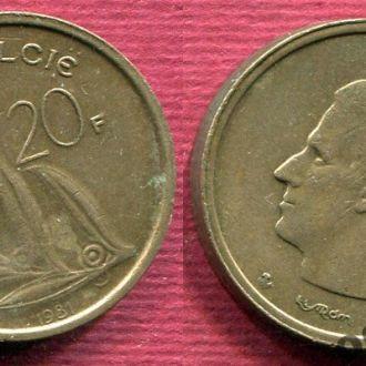 Бельгия 20 франков 1981 Belgiё
