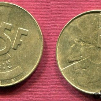 Бельгия 5 франков 1993 Belgiё