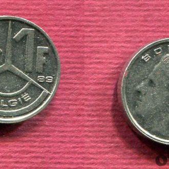 Бельгия. 1 франк 1989 Belgiё