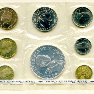 Монако. Набор 7 монет 1974 BU