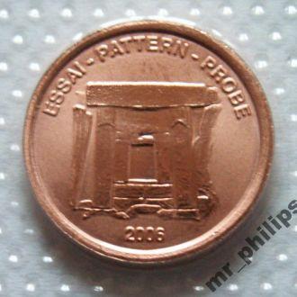 Мальта 2 сeros 2006 г. Пробная Евро монета! UNC!