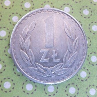 Польша монета 1 злотый 1987 год