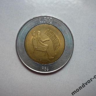 Сан-Марино 500 лир 1986 биметалл