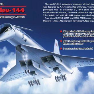 ICM - 14401 - Туполев Ту-144 - 1:144