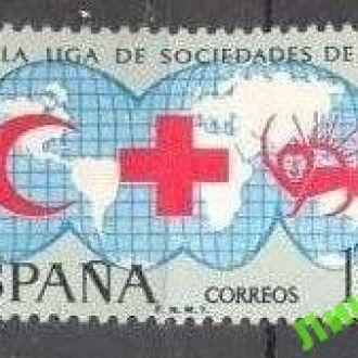 Испания 1969 Красный Крест карта медицина ** о