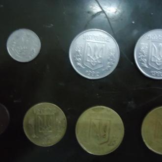 монеты номиналом 1, 5,10,25,50 копеек 1992 года