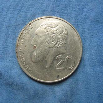 Кипр 20 центов 1994 год