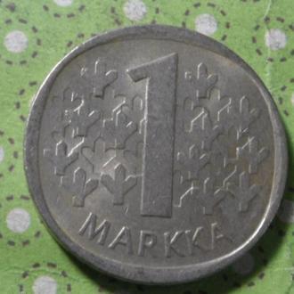 Финляндия 1981 год монета 1 марка !