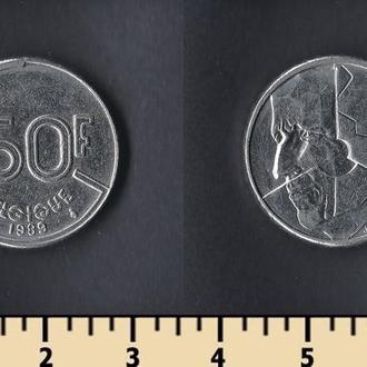 Бельгия 50 франков 1989