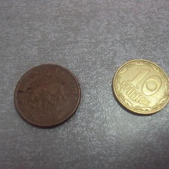 монета либерия 1 цент 1972 сохран №1031
