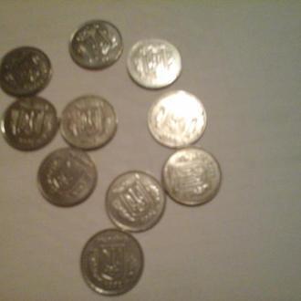 2 копейки за 2001,2002,2004,2005,2007,2008,2009,2010,2011,2012  годы.. Всего 10 монет.