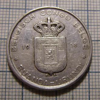 Руанда-Урунди, 5 франков 1958 г. (Бельгийское Конго)