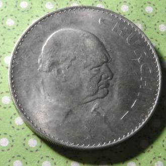 Великобритания 1965 год монета 1 крона Черчиль !