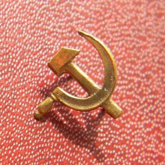 Серп и молот (СиМ) на орден Отечественной войны серебро позолота А63