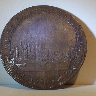 Городская монета, г. Нанси, Лотарингия, Франция, 1729