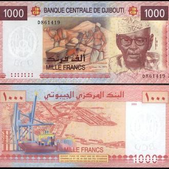 ДЖИБУТИ 1000 франков 2005г. UNC