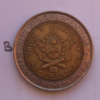 Аргентина, 1 песо 1994 года (БИМЕТАЛЛ).