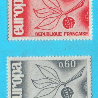 Франция Ми 1521-22, 1965 год MNH! серия!