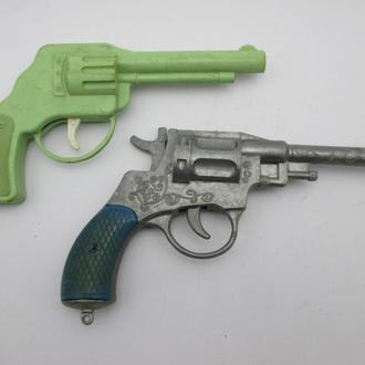 Револьвер Пистолет Наган Детская игрушка СССР 2 шт.