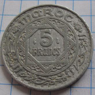 Марокко 5 франков - 1951