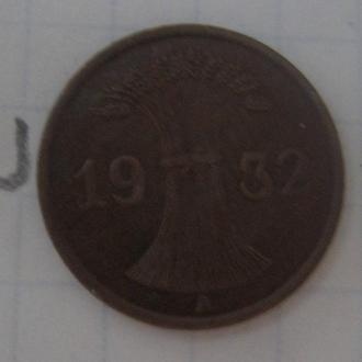 ГЕРМАНИЯ, 1 пфенниг 1932 года.