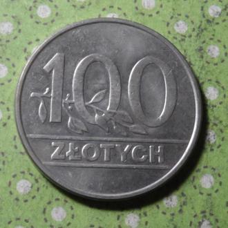 Польша монета 100 злотых 1990 год