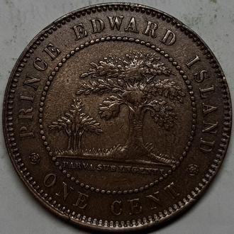 Острова принца Эдварда цент 1871г. РЕДКАЯ!