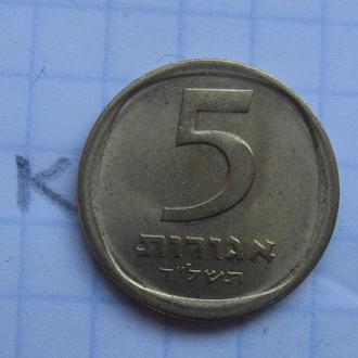 ИЗРАИЛЬ, 5 агорот 1974 года.