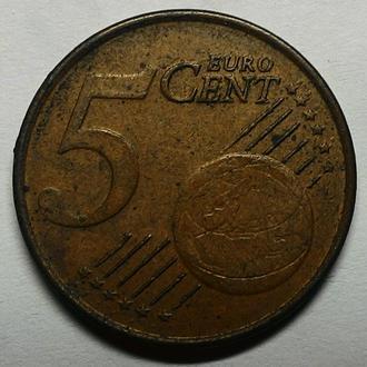 Нидерланды 5 евро центов 1999 год