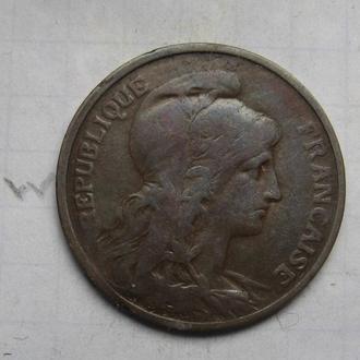 ФРАНЦИЯ, 5 сантимов 1913 года.