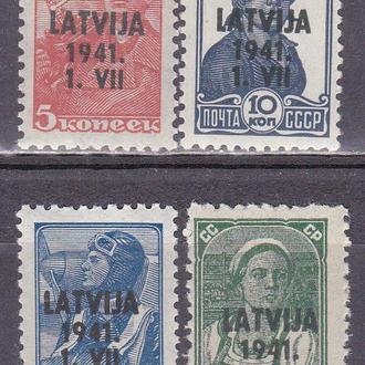 Рейх 1941 оккупация Латвии MH