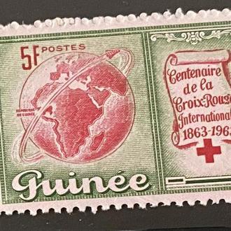 1963. Гвинея. Ракета. Красный крест.