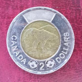 Канада. 2 доллара 2012 год.