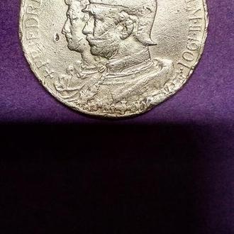 5 Марок 1901 года (200-лет Королевства Пруссия) Серебро! Оригинал 100%, Вес -27,54 Грамм- RAR!