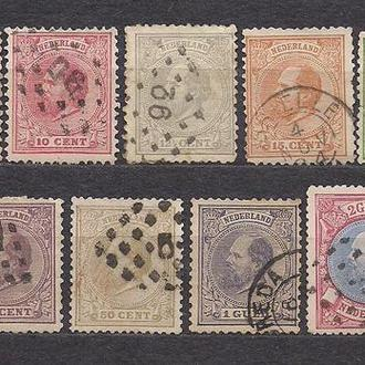 Нидерланды, 1872 г., стандартные марки, король Вилем 3