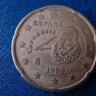 Испания 20 центов 1999