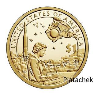 США  1 доллар 2019 г Сакагавея. Космические достижения UNC