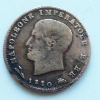 3 Италия, Королевство Наполеона 3 чентезимо 1810 В