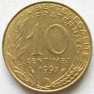 (2) Франция 10 сантимов, 1997