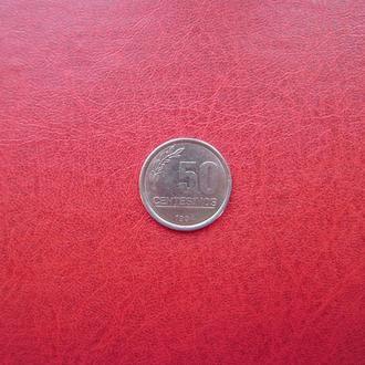 Уругвай 50 сентесимо 1994